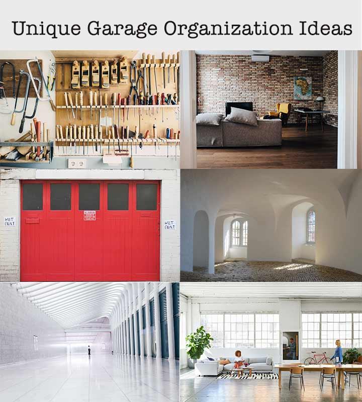 unique garage organization ideas