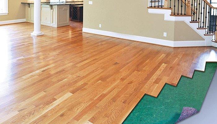 builder's felt underlayment for hardwood floor
